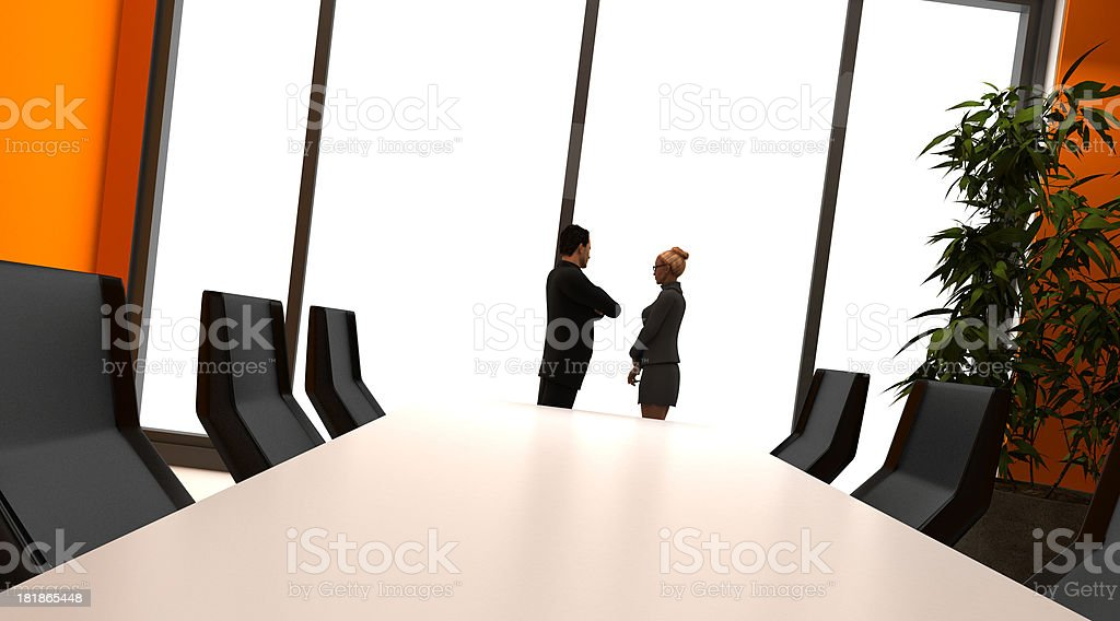 Couple in the board room royalty-free stock photo