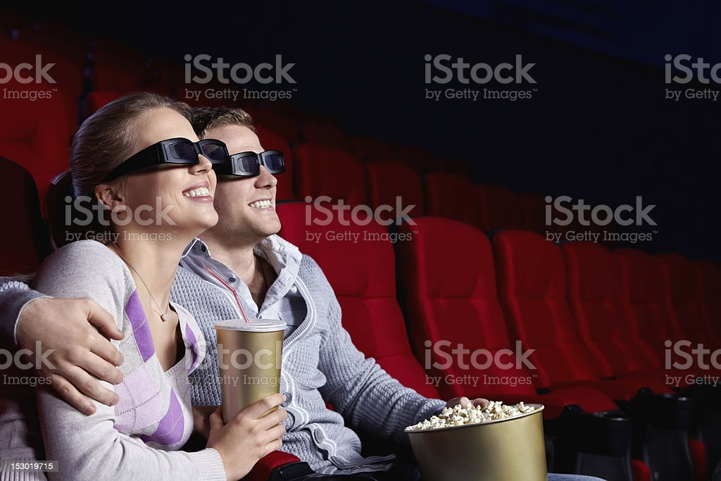 Couple in the cinema royalty-free stock photo