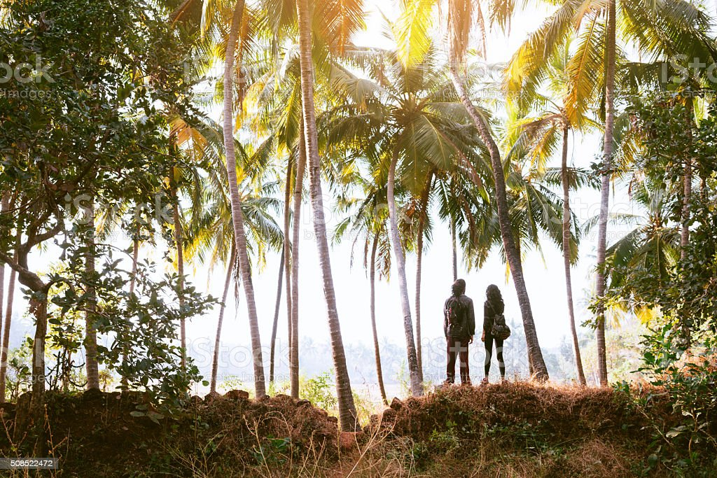 Couple in the jungles stock photo