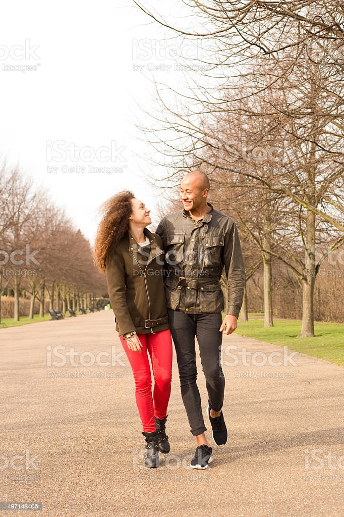 couple in the park royalty-free stock photo