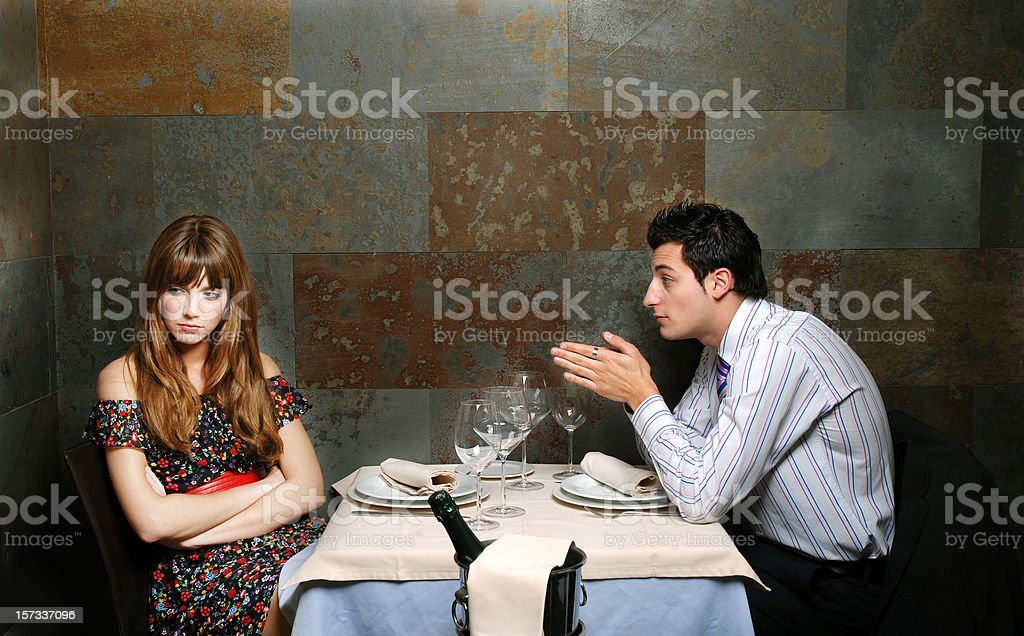 Couple in the storm royalty-free stock photo