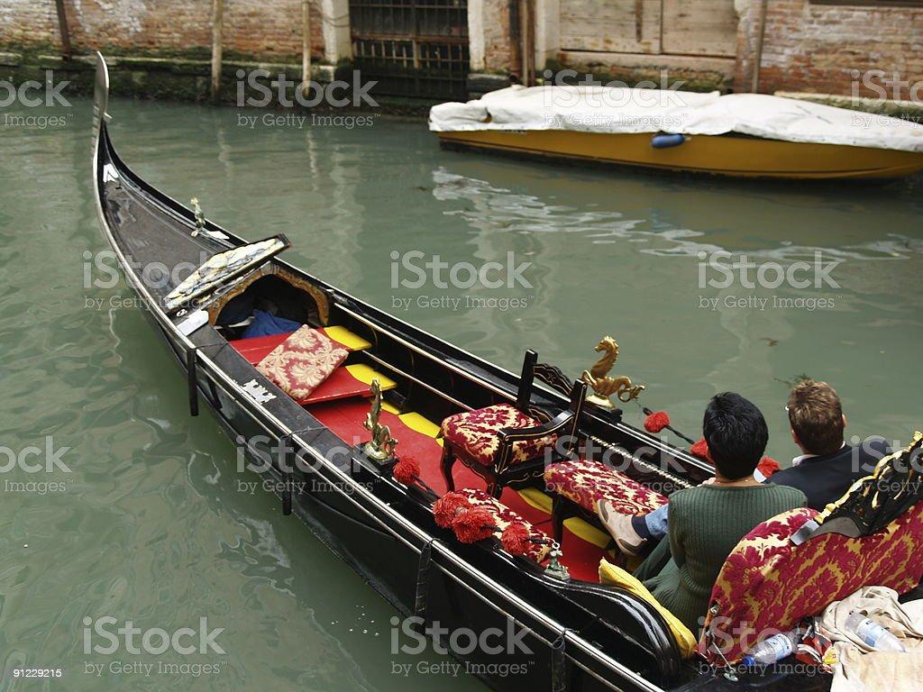 Couple In The Venetian Gondola royalty-free stock photo