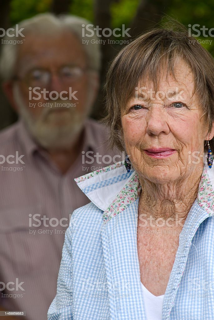 Couple In Their 80's royalty-free stock photo