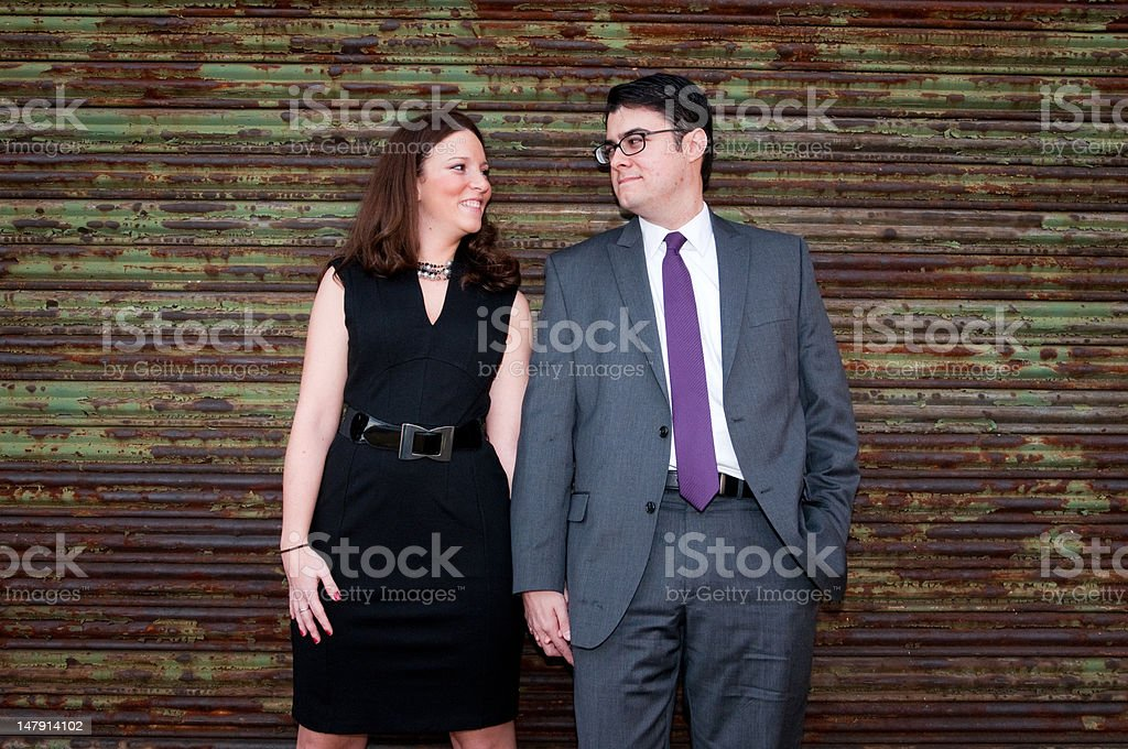 Couple in urban setting royalty-free stock photo
