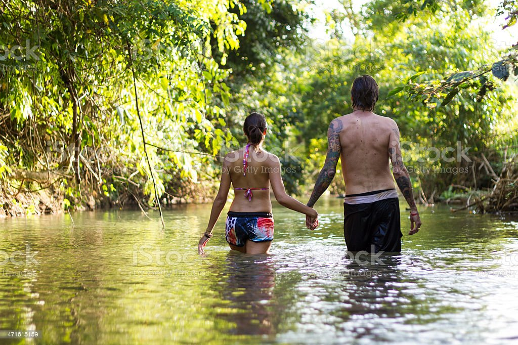 couple in water royalty-free stock photo