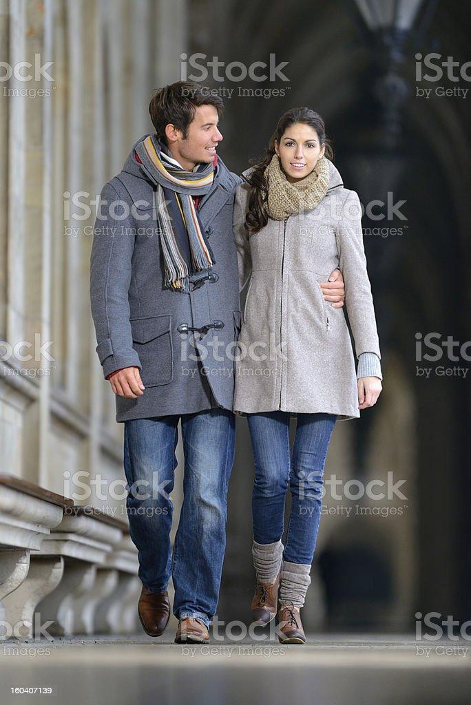 Couple in Winter Fashion stock photo