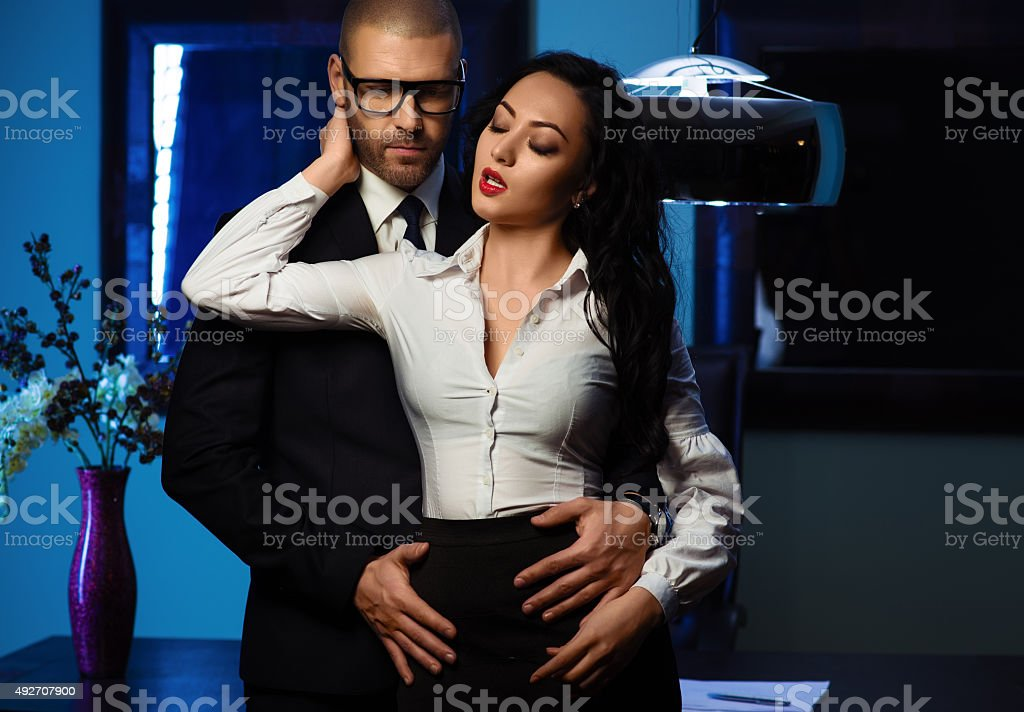 Couple indoors stock photo