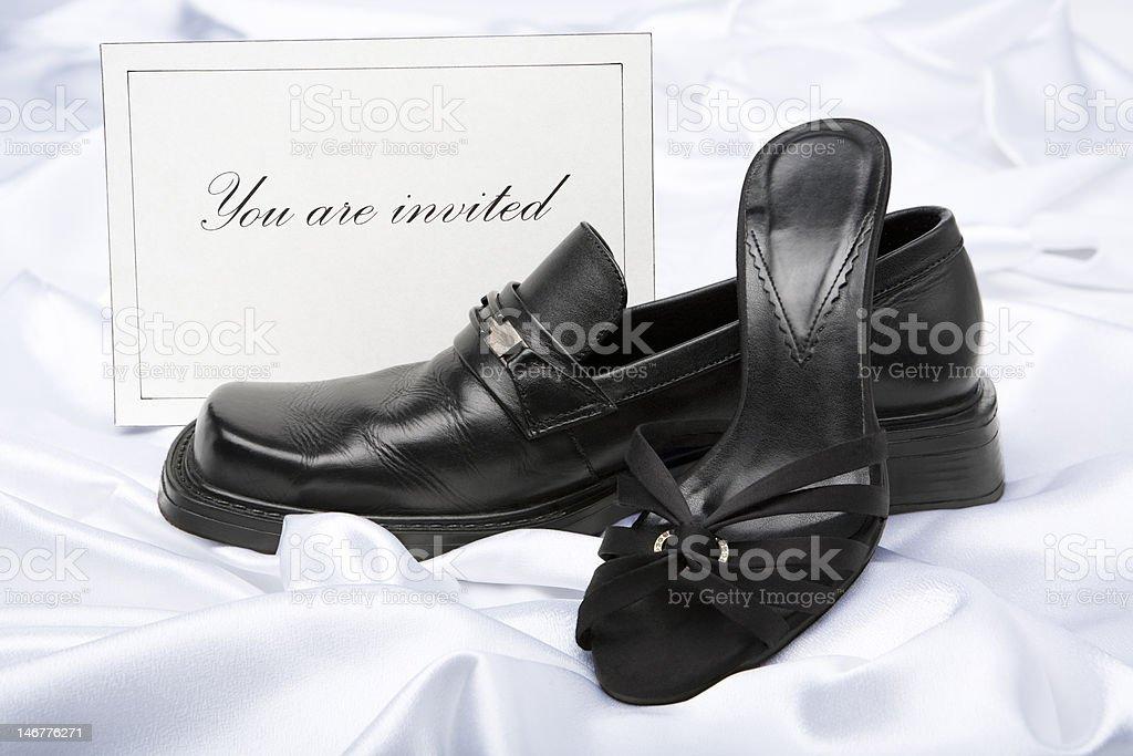 Couple invitation royalty-free stock photo