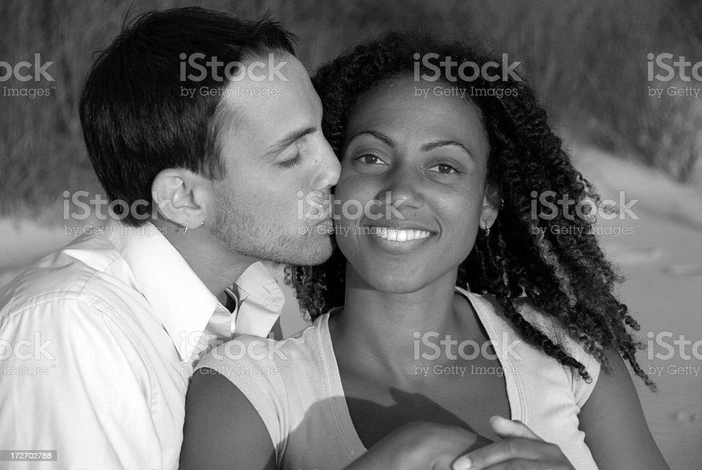 Couple Kiss royalty-free stock photo