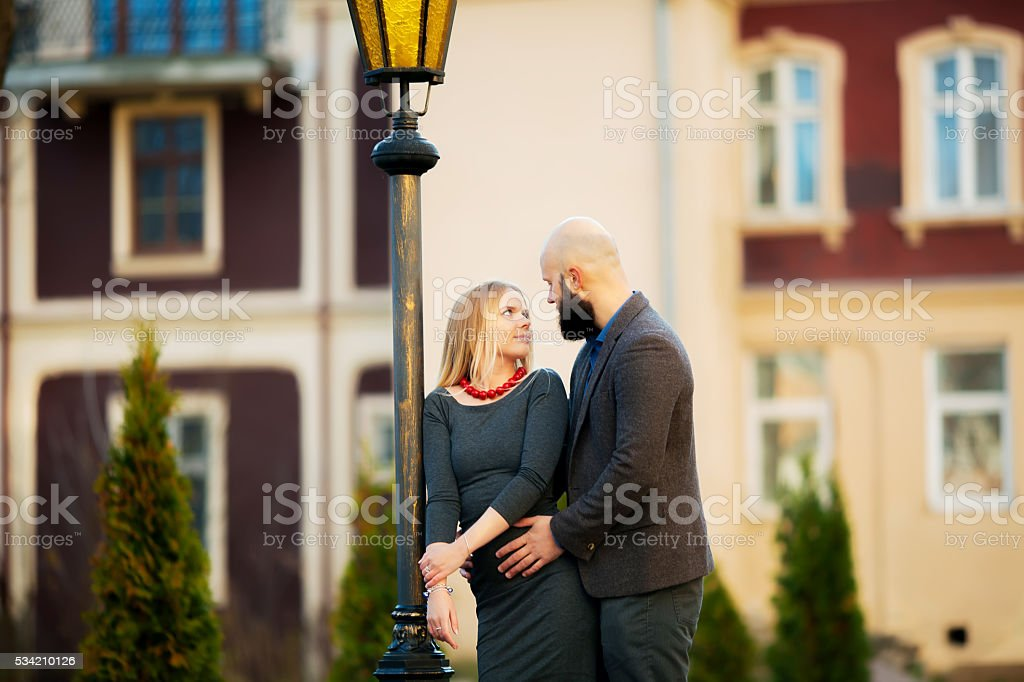 Couple kissing happiness fun. royalty-free stock photo