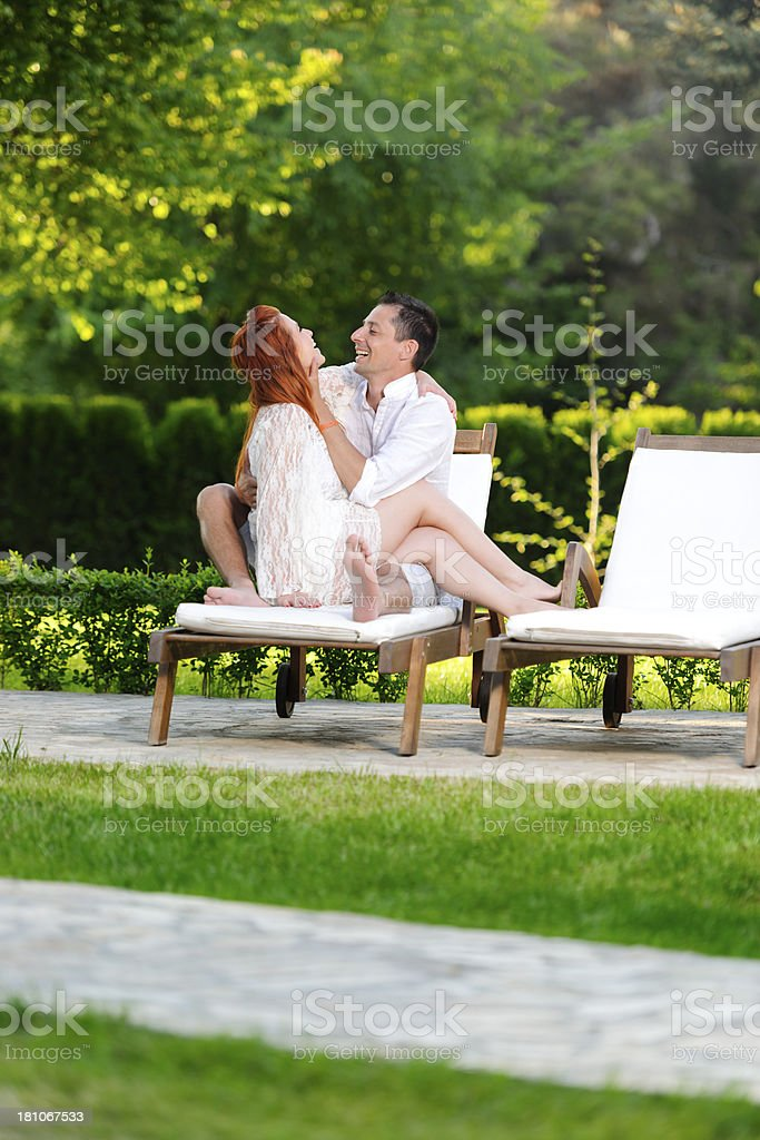couple laughing royalty-free stock photo