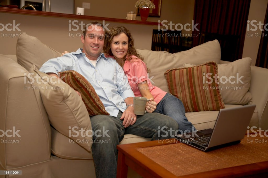 Couple Living room royalty-free stock photo
