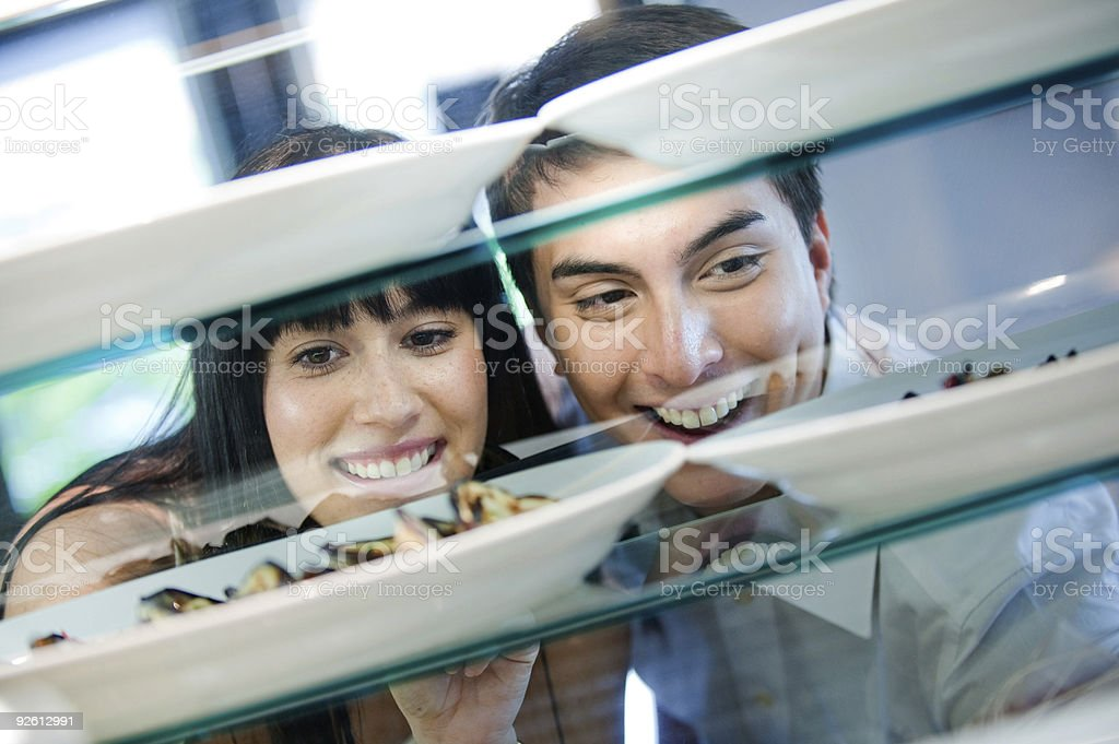 Couple Looking at Food royalty-free stock photo