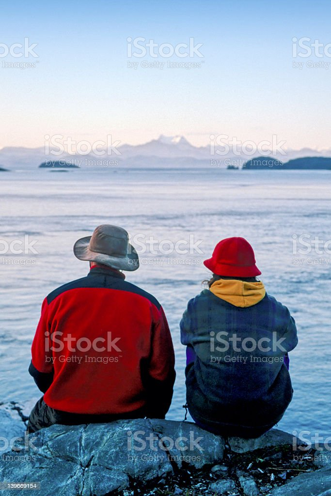 Couple looking at view royalty-free stock photo
