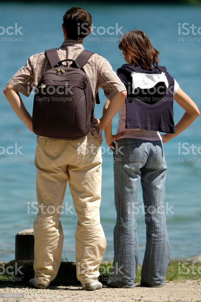 Couple looking royalty-free stock photo