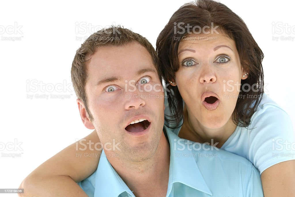 couple looking scared royalty-free stock photo