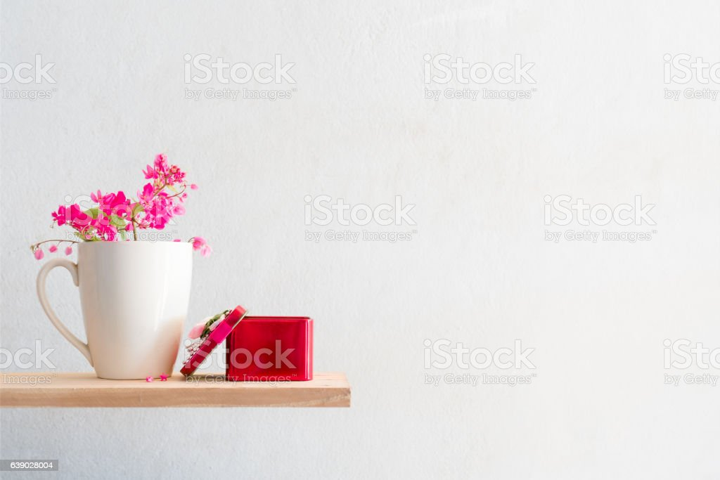 Couple lovers dolphin and  white mug coffee. stock photo
