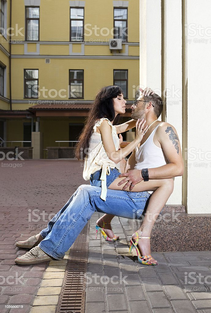 couple loving each other stock photo