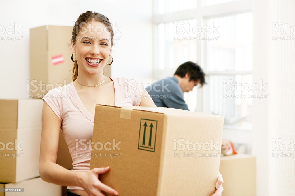 Couple Moving House royalty-free stock photo