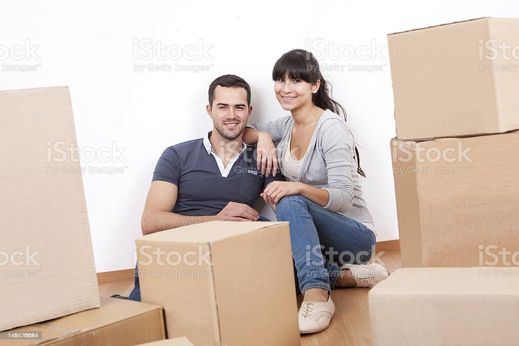Par pasar a nueva casa - foto de stock