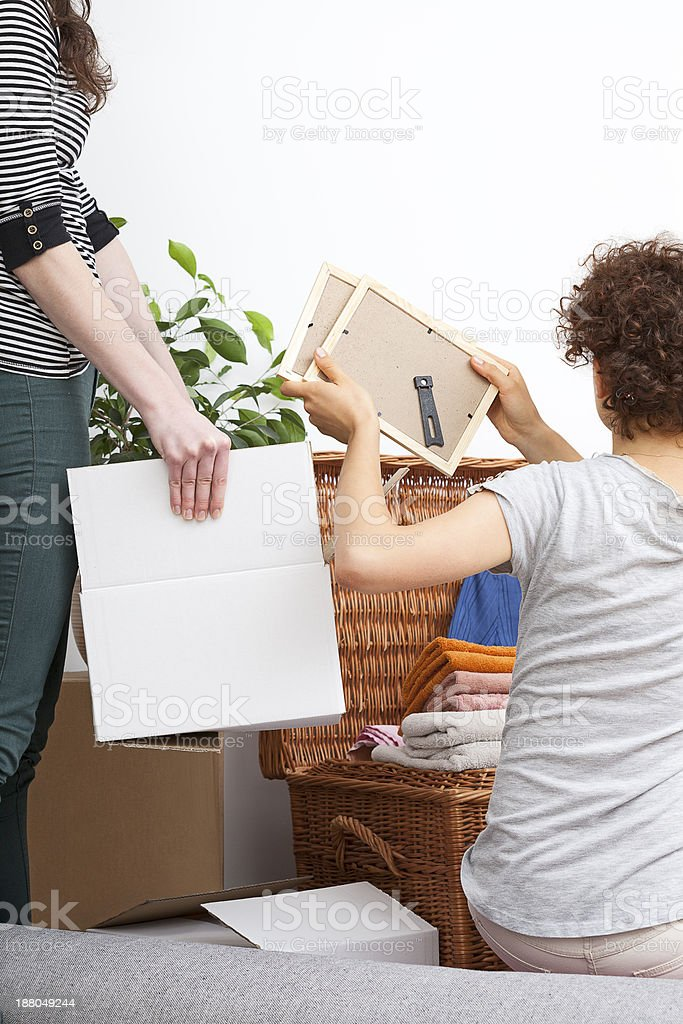 Couple moving out stock photo