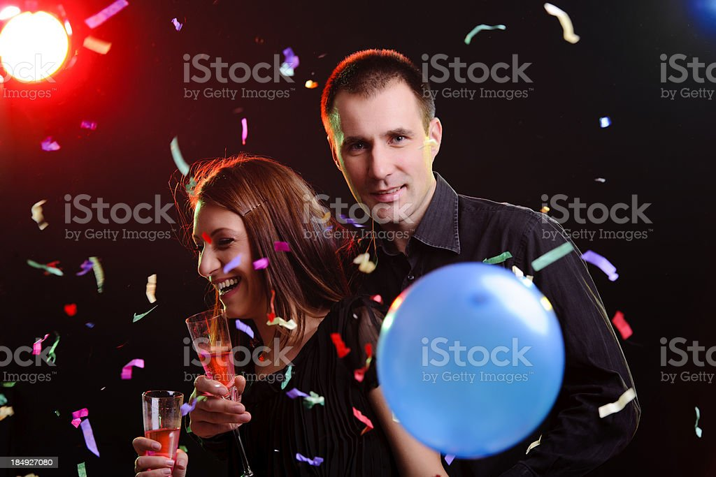 couple New Year royalty-free stock photo