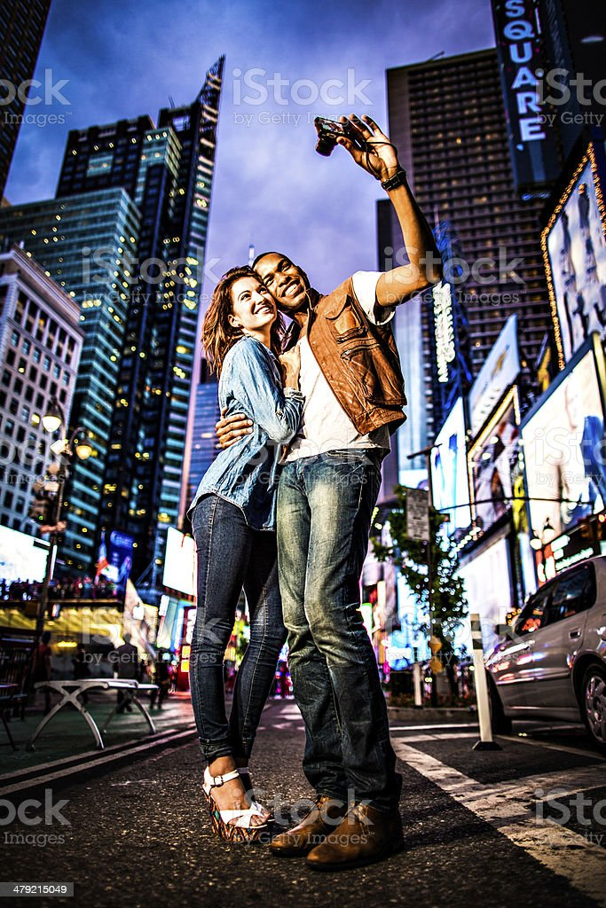 Couple New York City lifestyle royalty-free stock photo