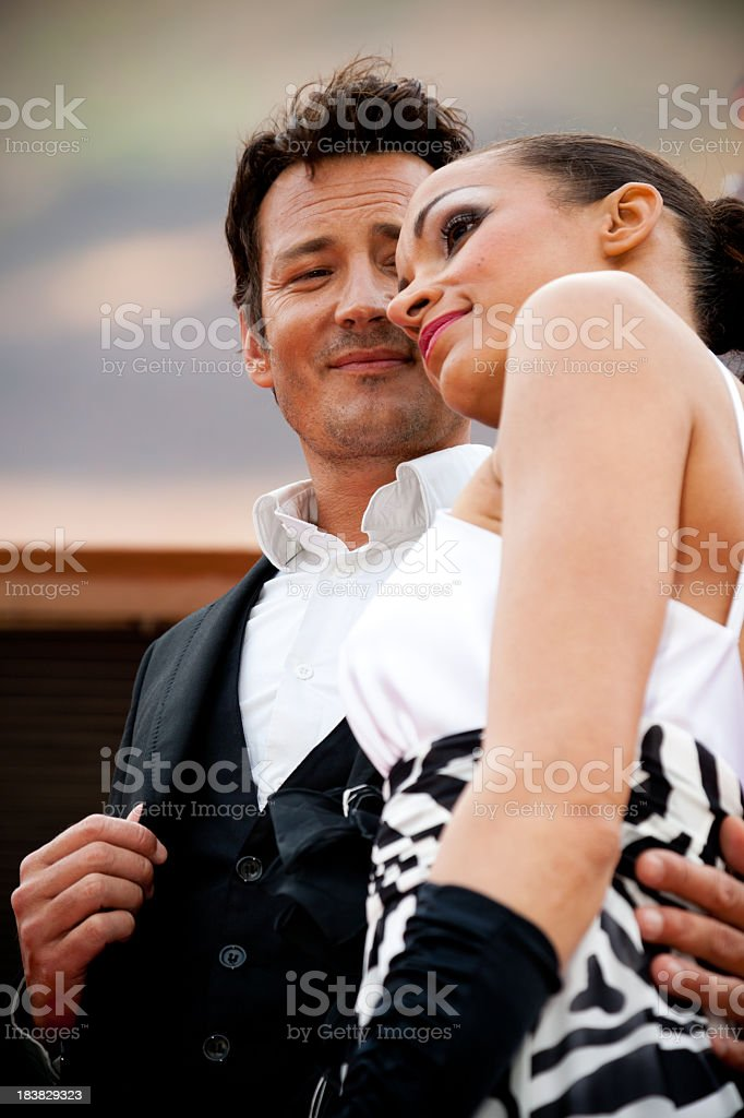 Couple of actors royalty-free stock photo