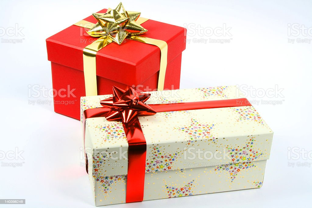 Couple of boxes for gifts royalty-free stock photo
