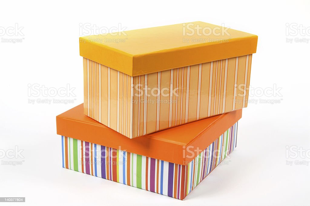Couple of boxes royalty-free stock photo