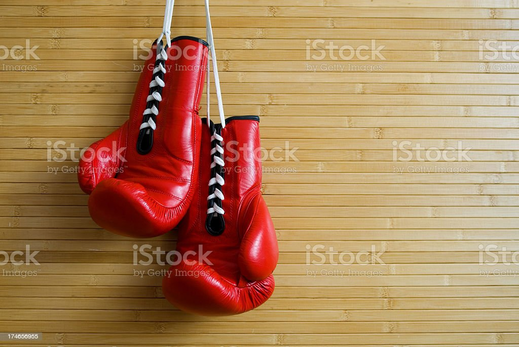 couple of boxing gloves stock photo