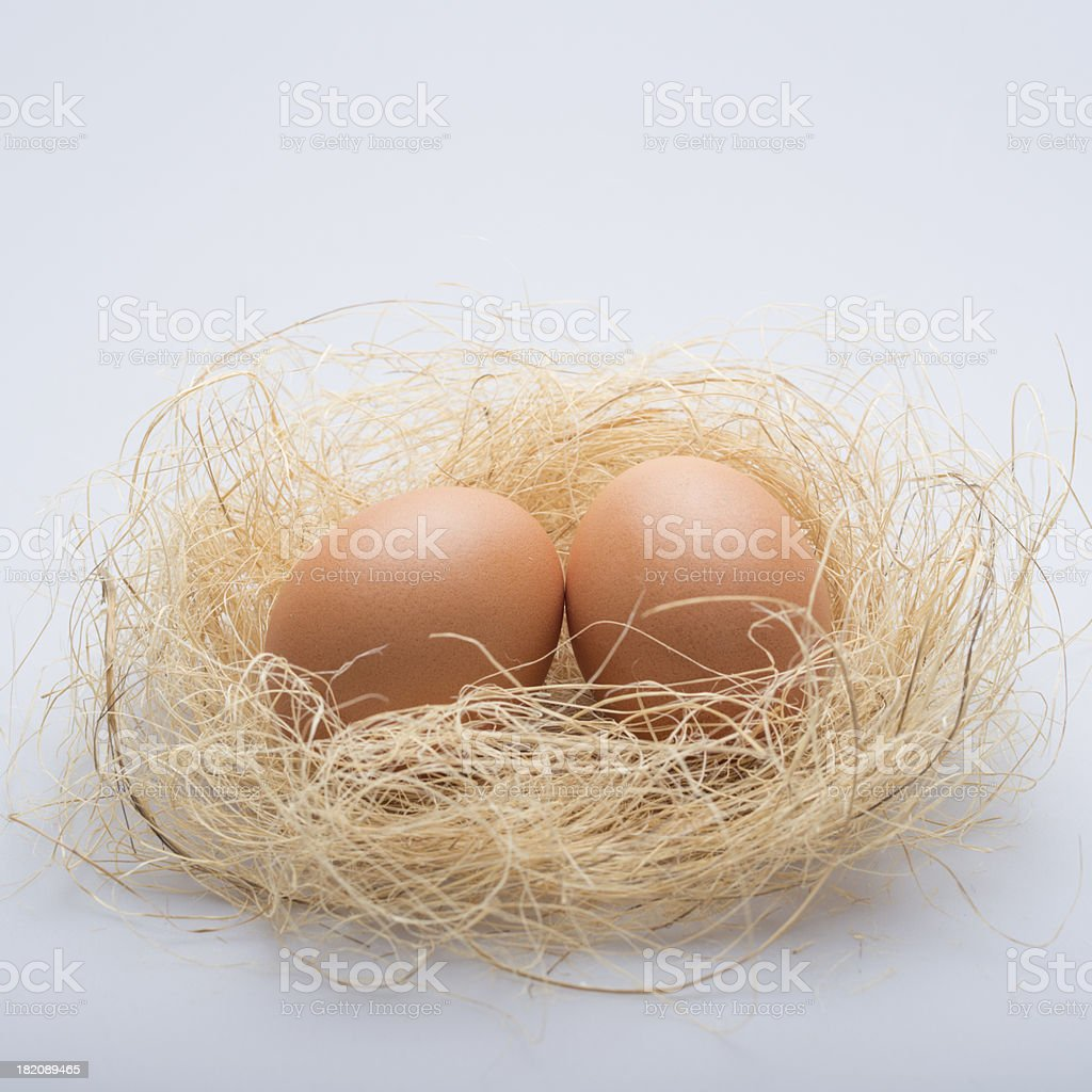 Couple of eggs royalty-free stock photo