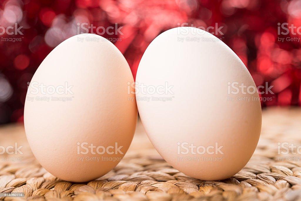 couple of eggs stock photo