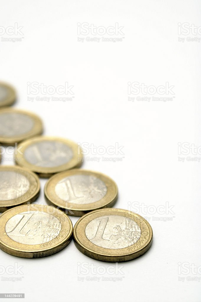 couple of euros royalty-free stock photo
