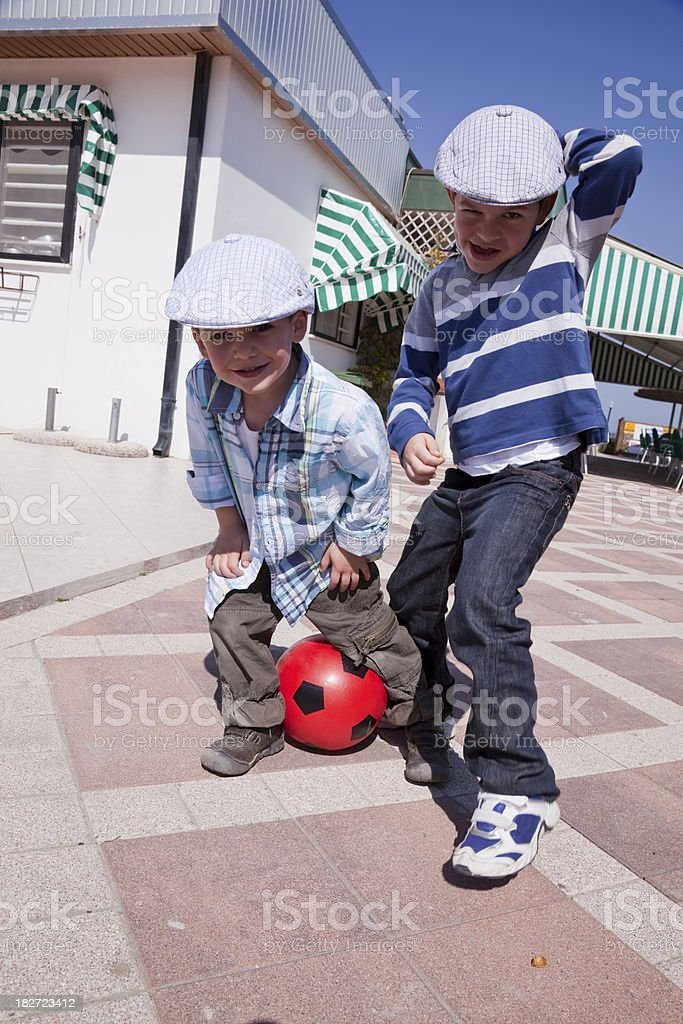 Couple of kids royalty-free stock photo