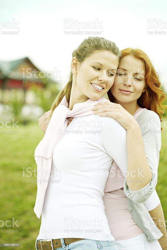 Couple of lesbians royalty-free stock photo