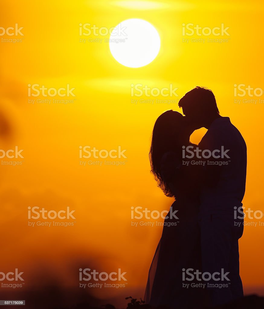 couple of lovers at background stock photo