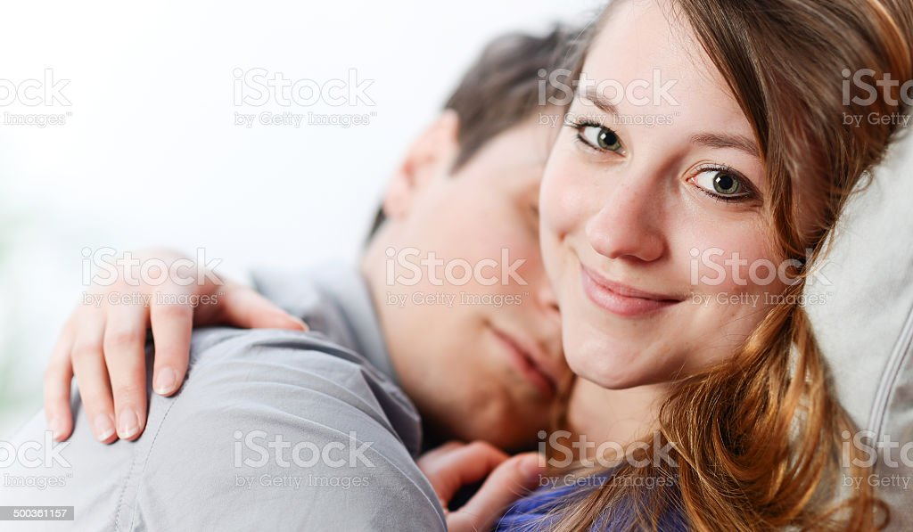 couple of lovers lengthened the one on the other one royalty-free stock photo