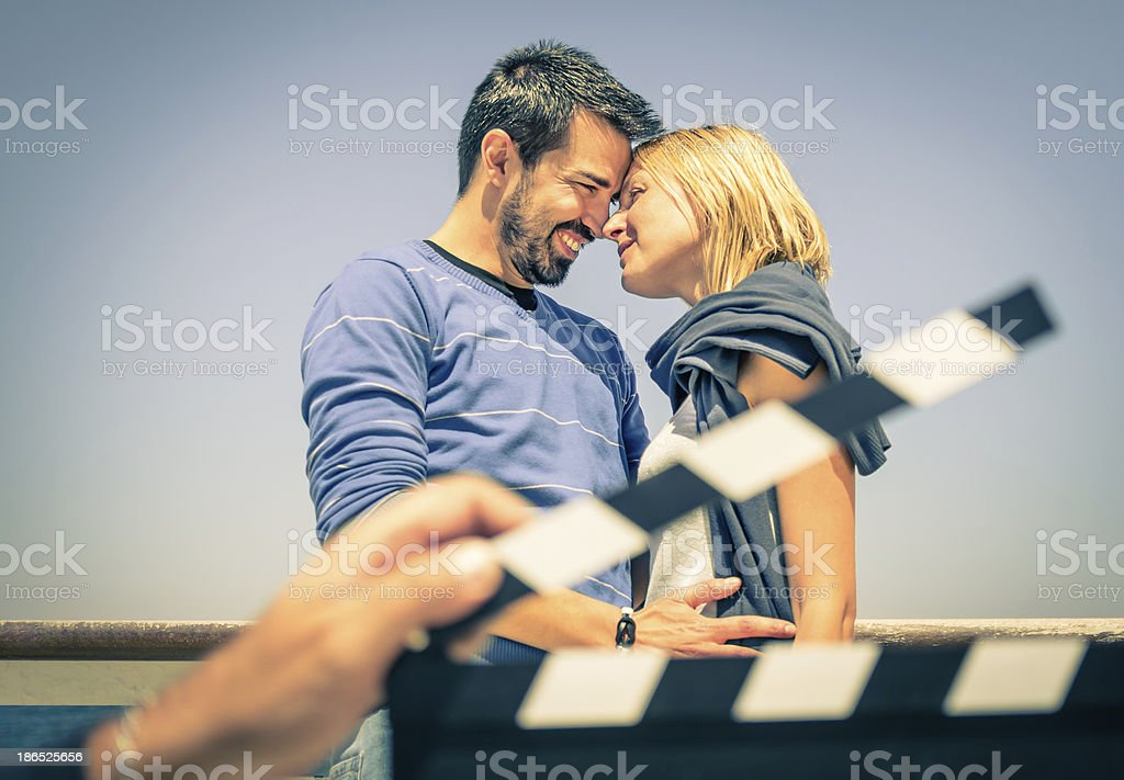 Couple of Lovers like in a Movie stock photo