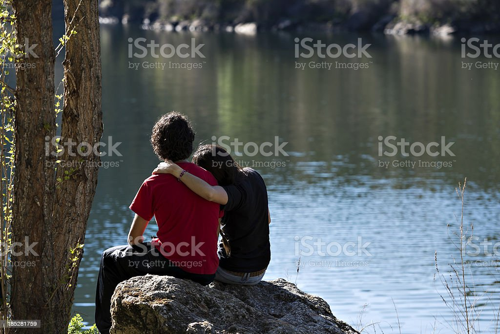 Couple of lovers royalty-free stock photo