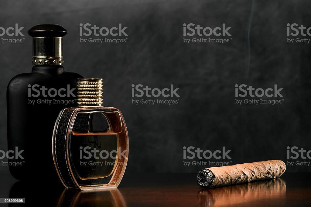 Couple of perfume bottles stock photo
