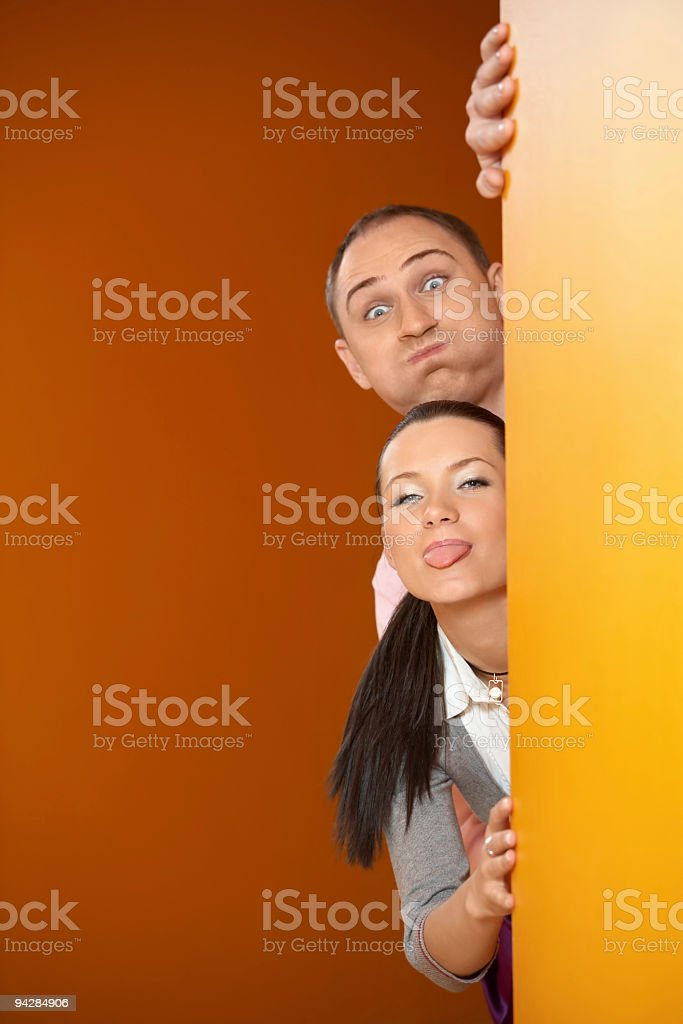 Couple of rascals royalty-free stock photo