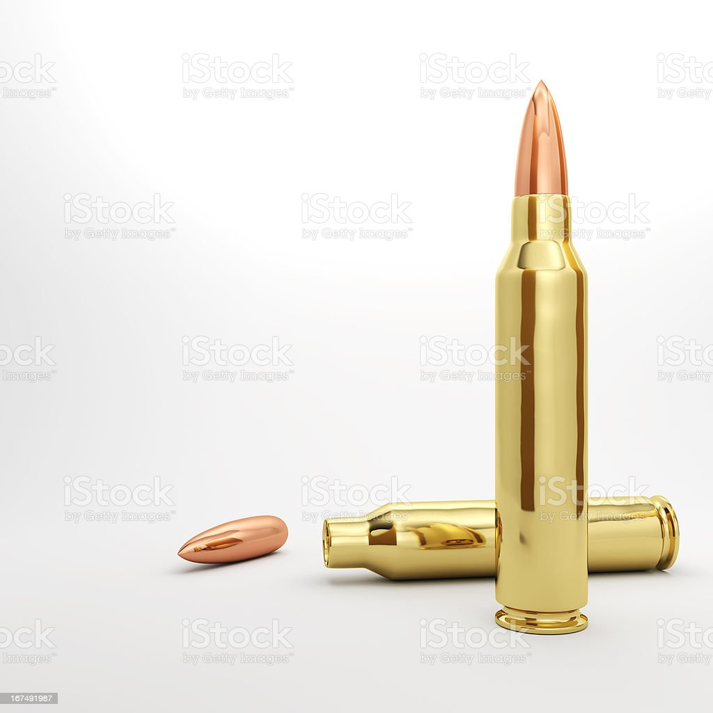 Couple of Rifle Bullets royalty-free stock photo