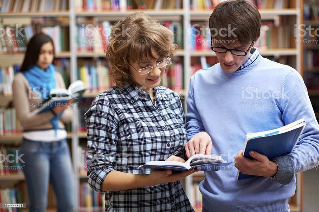 Couple of students royalty-free stock photo