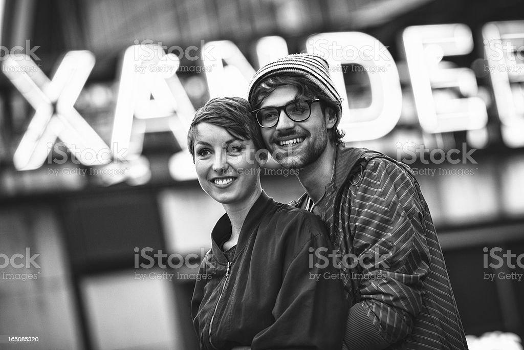 couple of tourist on alexander platz royalty-free stock photo