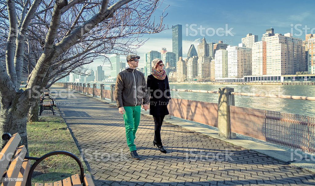 Couple of Tourists in NYC stock photo