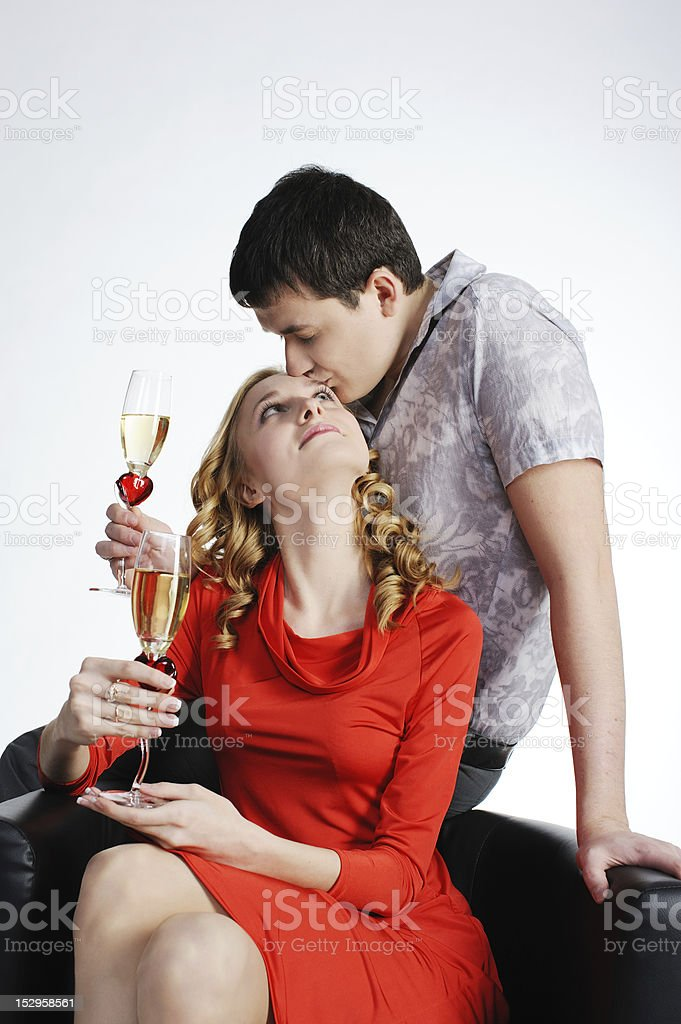 Couple of young girl and man royalty-free stock photo