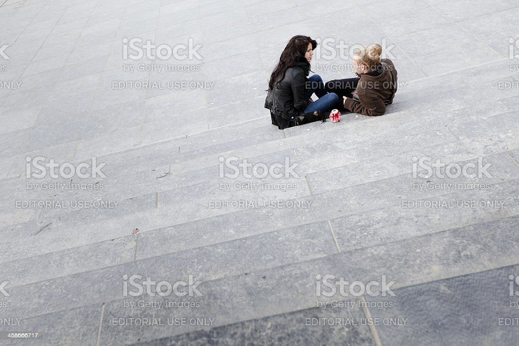 Couple on a date royalty-free stock photo
