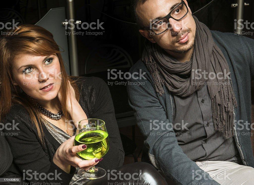 Couple on a disco pub royalty-free stock photo