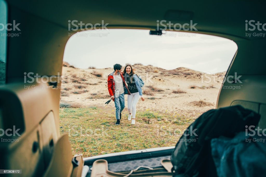 Couple on a vacation stock photo